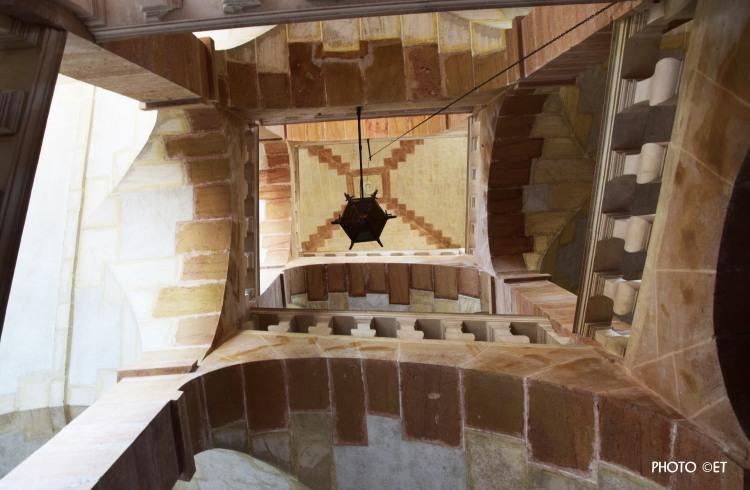 Escalier central Château de Cormatin -Photo ©ET