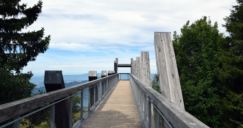 Passerrelle du Mont Revard, au dessus du Lac du Bourget
